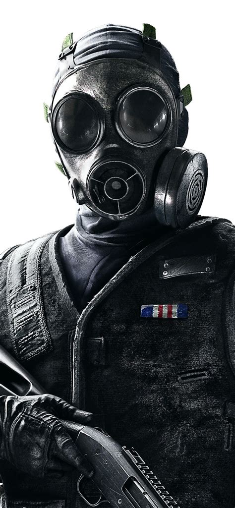 wallpaper rainbow  siege soldier gas mask  uhd  picture image