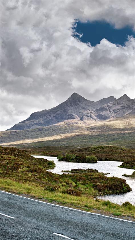 wallpaper isle  skye scotland europe road mountain