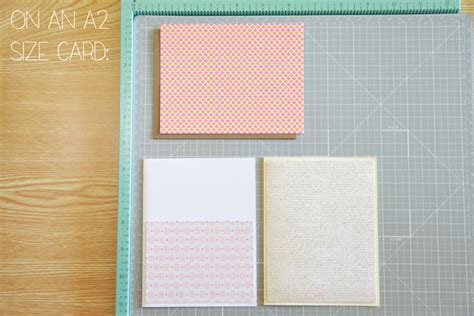 Handmade Card Sizes - unify handmade card 101 chapter 3 paper and sts