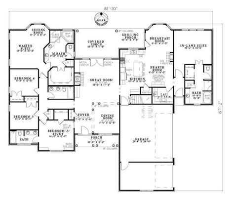 floor plans in law suite in law suite ranch home with 5 bedrooms 2875 sq ft