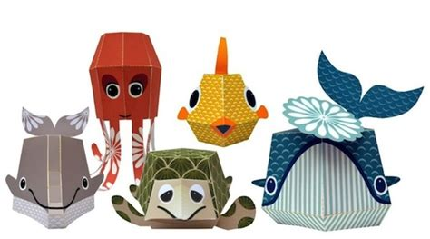 adorable printable papercraft animals and easy to