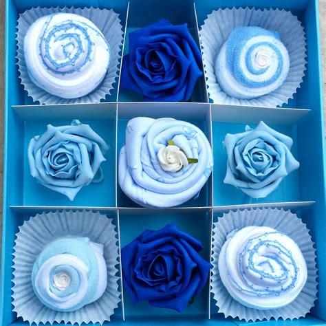 Set Baby Blue T3009 3 baby cupcake gift set blue