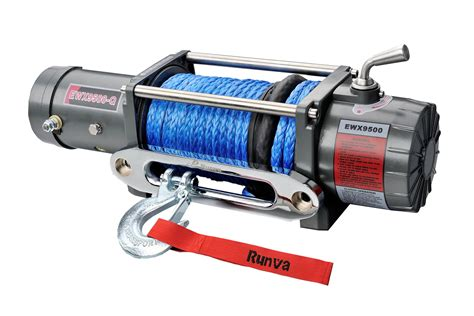 Runva High Speed Winch Ewx 9500 Q 3 With Synthetic Rope 43ton ewx9500 q 12v evo with dyneema rope