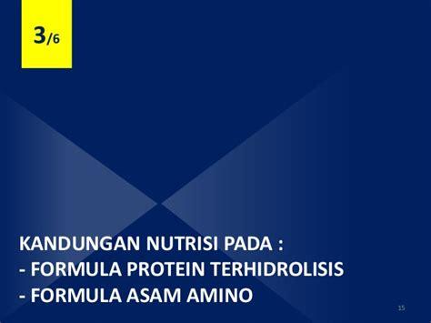 Formula Llm formula asam amino dan formula protein terhidrolisis pada