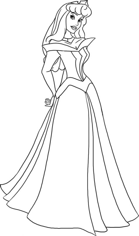 princess aurora coloring pages games sleeping beauty sketch printable free printables