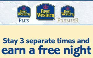 Air Miles Best Western Gift Card - free night after three stays 50 gift card with best western international points