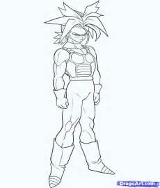 draw super saiyan trunks step step dragon ball characters anime draw japanese