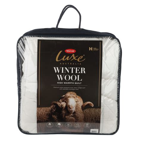 Tontine Wool Quilt by New Tontine Luxe Winter Wool Quilt Ebay