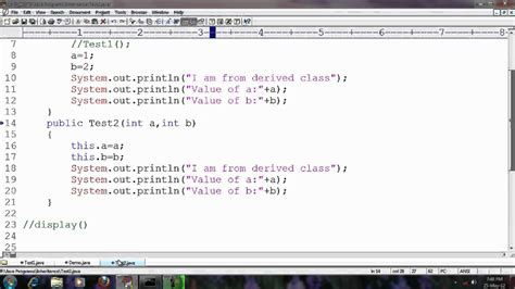 java tutorial super keyword java tutorial for beginners 24 using super keyword wmv