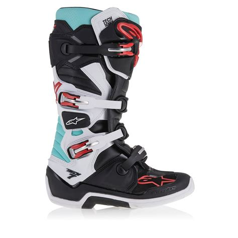 alpinestars tech 7 motocross boots alpinestars tech 7 motocross boot turqoise