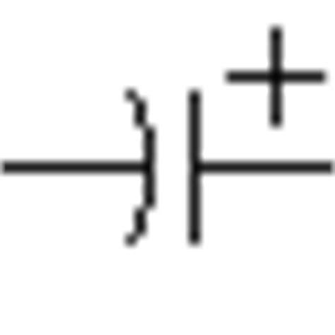 capacitor polarised symbol electrolytic capacitor