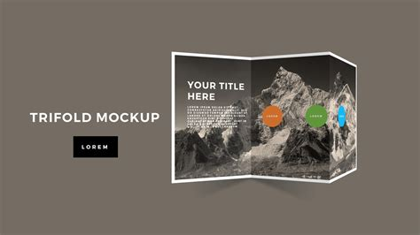 tri fold brochure mockup powerpoint template premium and