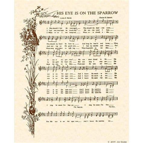 printable lyrics to his eye is on the sparrow 65 best hymnal sheet music w lyrics images on pinterest