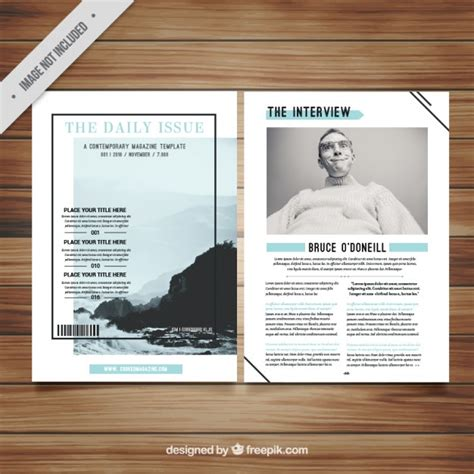minimalist magazine template vector free download