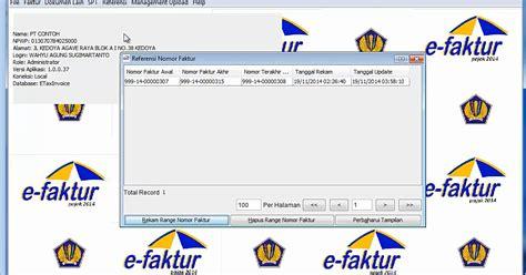 tutorial pengisian e faktur contoh faktur pajak e faktur contoh 0208
