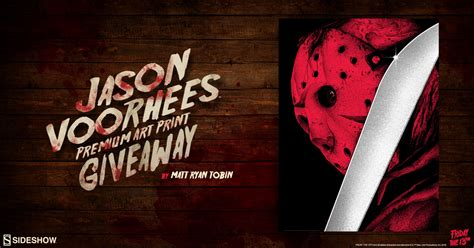 Printed Giveaways - jason voorhees print giveaway sideshow collectibles