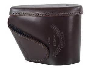 Galco recoil pad slip on 5 quot x 1 1 2 quot x 1 2 quot thick leather brown