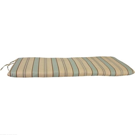 glider swing cushions teal brown beige knife edge bench swing or glider
