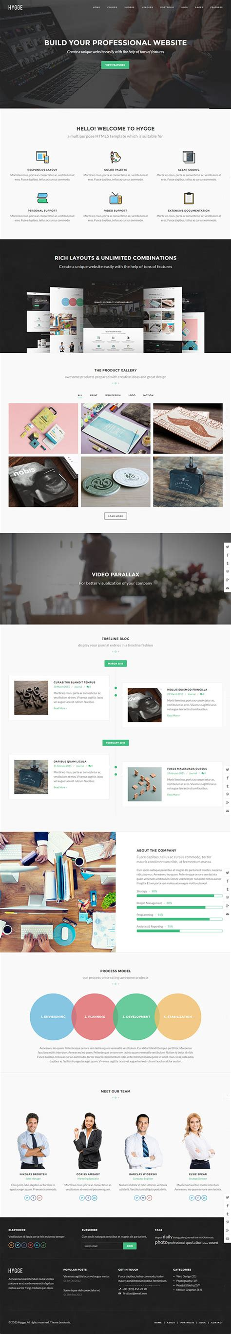 Arch Multipurpose Onepage Multipage Html Template 15 new responsive html5 css3 website templates idevie