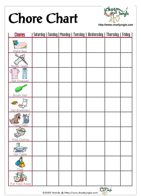printable toddler chore chart a chore chart for the little ones who can t read but can