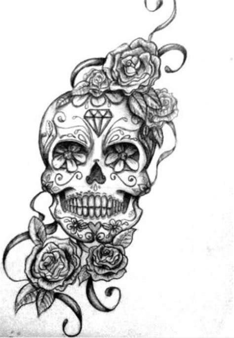 sugar skull tattoo with roses 21 awesome mexican designs