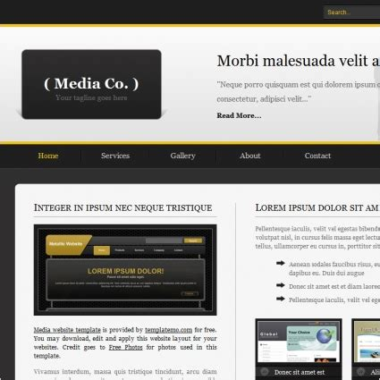 media template hosting media free website templates in css html js format for