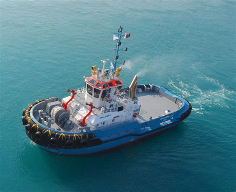 boat manufacturers qatar nakilat damen celebrates the delivery of two mooring tugs