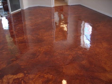 Concrete Floor Ideas Indoors Stained Concrete Floors Pros And Cons Modern Concrete Indoor Staining Interior Concrete Floors