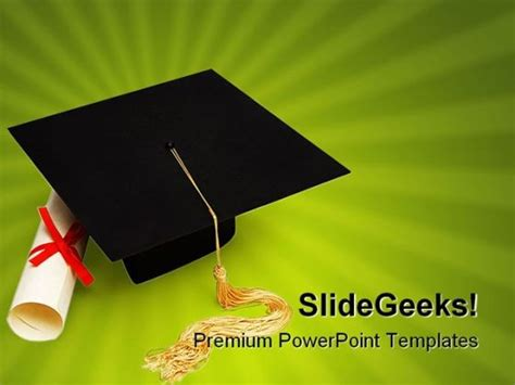 graduation education powerpoint backgrounds and templates