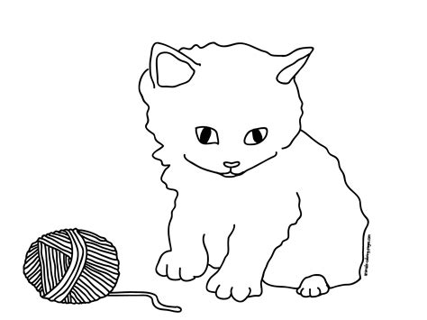 kitten outline coloring page kitten outline coloring page coloring home