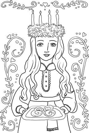 printable st lucia crown click st lucia ornament coloring page for printable