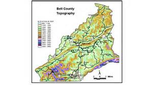 map of bell county groundwater resources of bell county kentucky