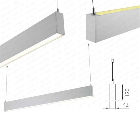 suspended linear led lighting linear direct indirect illumination lighting fixtures
