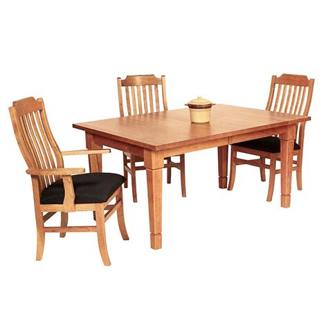 solid wood craftsman style dining table crafted  vermont