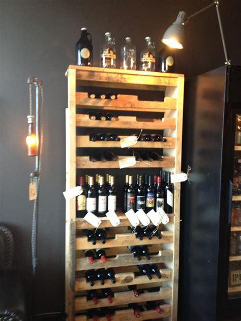 pallet wine rack tap station seattle family room