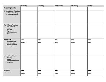 leveled literacy intervention lesson plan form by tools to