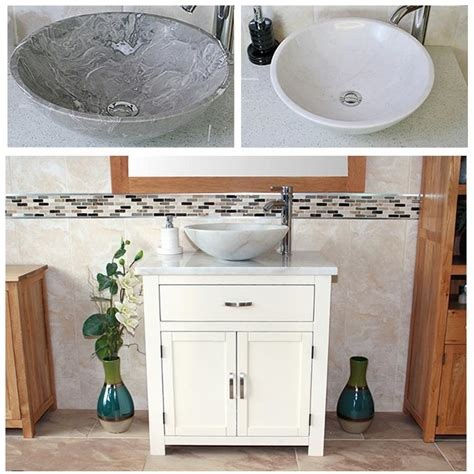Marble Top Vanity Unit Bathroom Vanity Unit Wooden Cabinet Wash Stand White