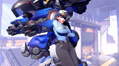 wallpaper engine officer dva overwatch video game uhd forge