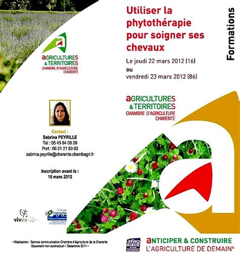 chambre agriculture poitou charentes formation phytoth 233 rapie chambre agriculture charente