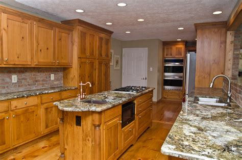 knotty pine cabinets granite counter top traditional image gallery pine cabinets