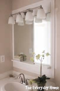 pottery barn mirrors bathroom pottery barn inspired bathroom mirrors the everyday home