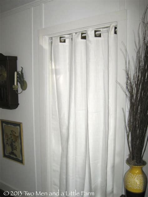 Bath And Beyond Shower Curtains two men and a little farm using curtains as doors