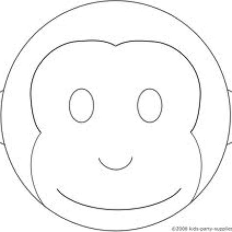 printable monkey mask template monkey mask template animal masks pinterest monkey