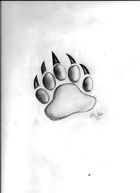 paw drawing paw drawing by aletsonjr on deviantart