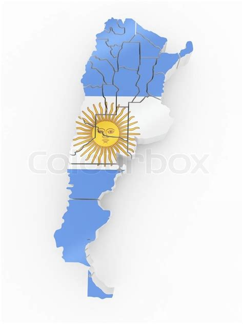 argentina colors map of argentina in argentinian flag colors stock photo