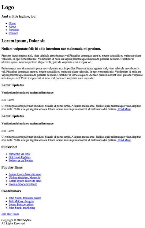 quiz css layout answers seo html css web design wordpress odesk test