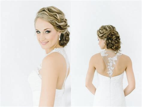 bridesmaid hairstyles curly show front and back view jaw dropping wedding updos bridal hairstyles part 1