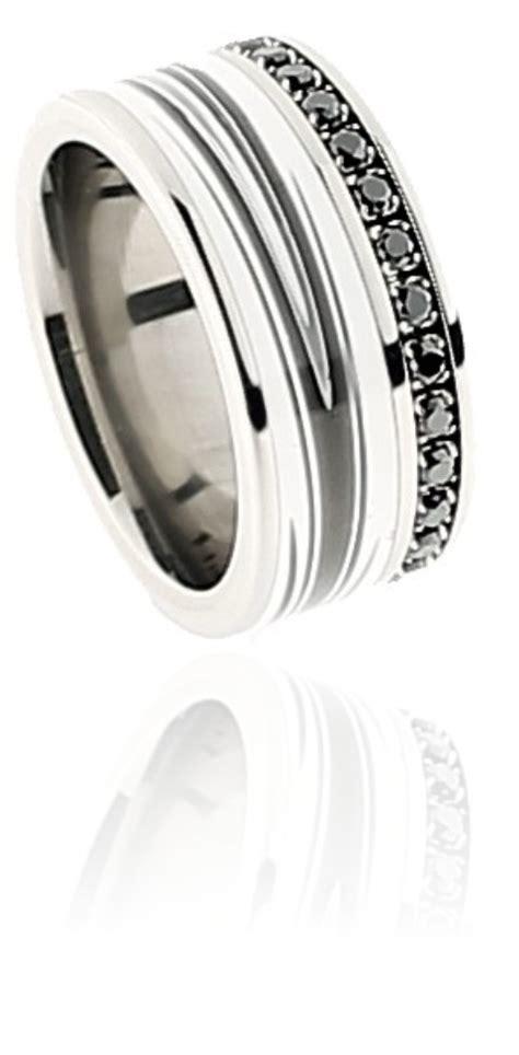 Titan Ring titan ring mit swarovski steinen schwarz keramik tico
