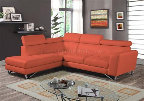 Orange Microfiber Sofa by Image Orange Microfiber Sectional Sofa