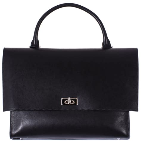givenchy black medium quot shark quot bag in black lyst